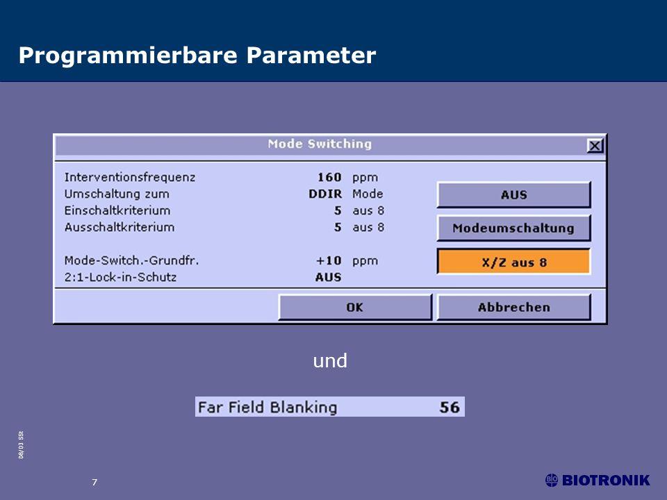 08/03 SSt 7 Programmierbare Parameter und