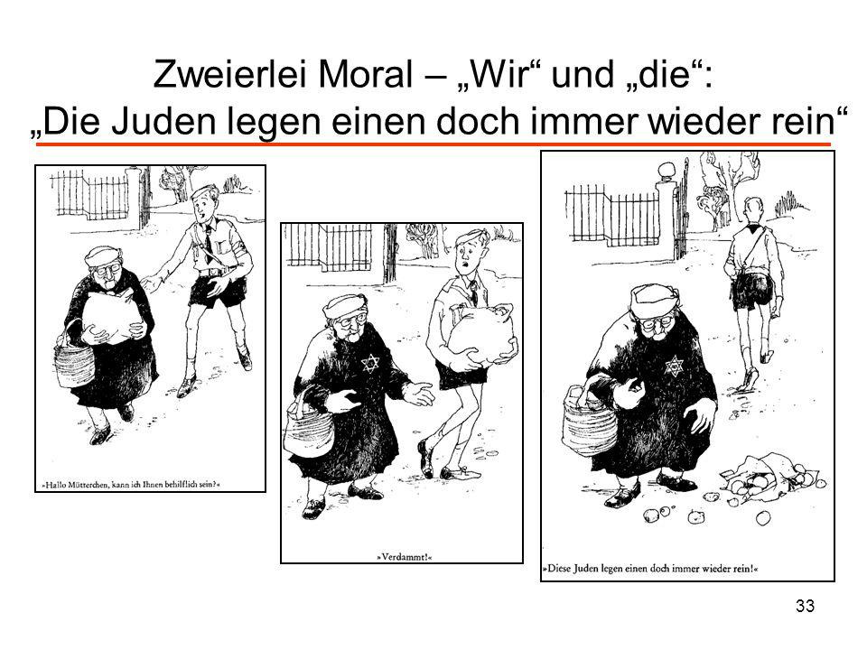 33 Zweierlei Moral – Wir und die: Die Juden legen einen doch immer wieder rein