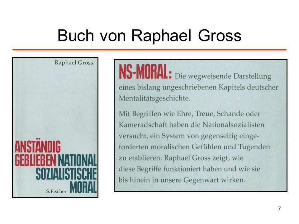 28 Zur Posener Rede Himmlers: Moral der NS-Elite III Wer sich auch nur eine Mark davon nimmt, ist des Todes.