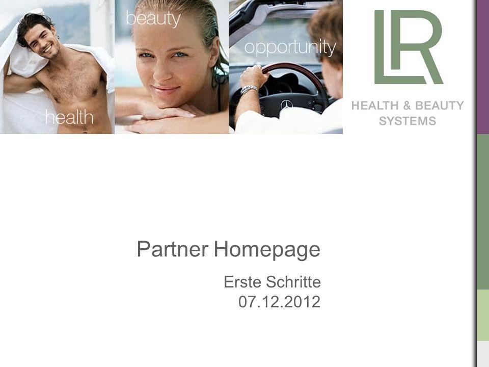 Partner Homepage Erste Schritte 07.12.2012