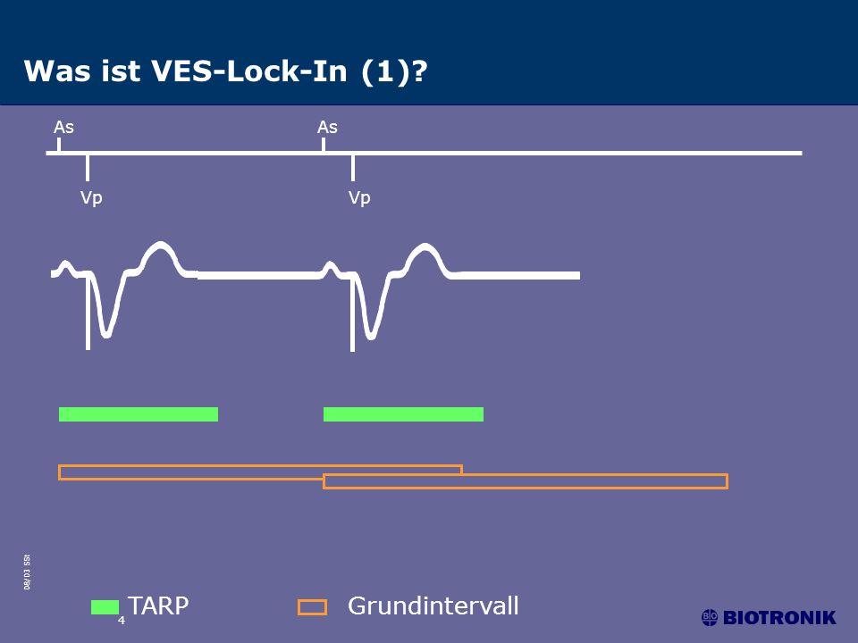 08/03 SSt 5 Was ist VES-Lock-In (2)? TARPGrundintervall As Vp Vs (VES)