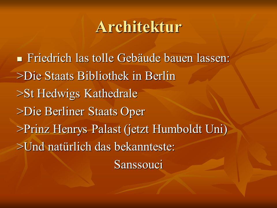 Architektur Friedrich las tolle Gebäude bauen lassen: Friedrich las tolle Gebäude bauen lassen: >Die Staats Bibliothek in Berlin >St Hedwigs Kathedral