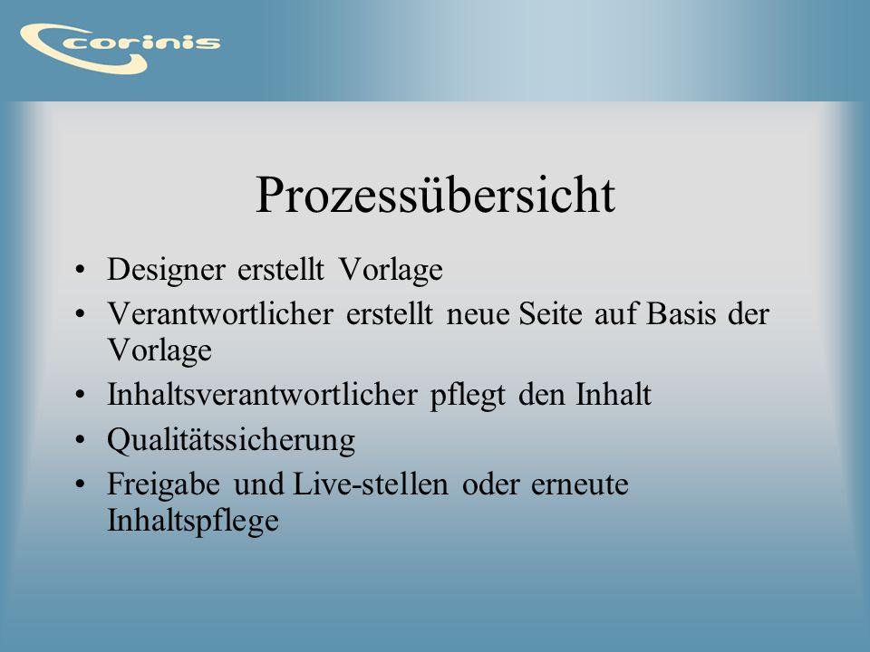 Vorlage erstellen Eine Vorlage beschreibt das Design der Seite in gewöhnlichen HTML.