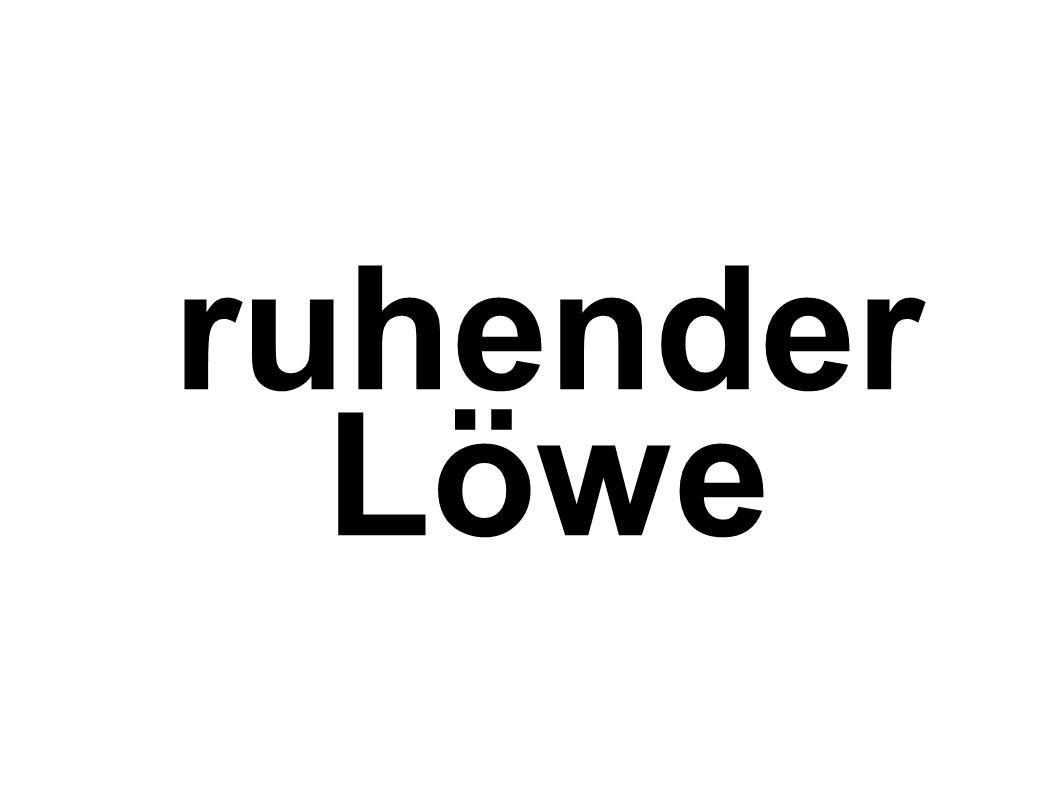 ruhender Löwe
