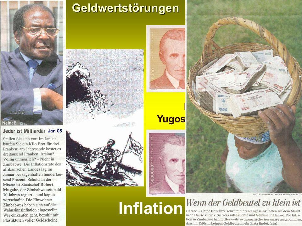 Geldwertstörungen Inflation Banknoten aus Yugoslawien/Serbien 1993 27 Jan 08