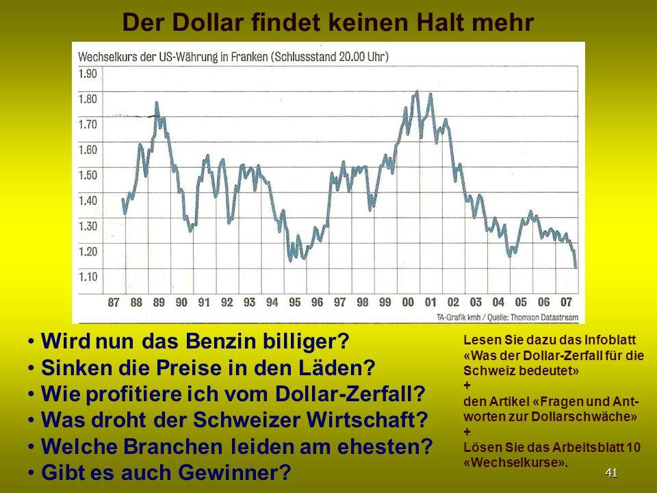 Wird nun das Benzin billiger? Sinken die Preise in den Läden? Wie profitiere ich vom Dollar-Zerfall? Was droht der Schweizer Wirtschaft? Welche Branch