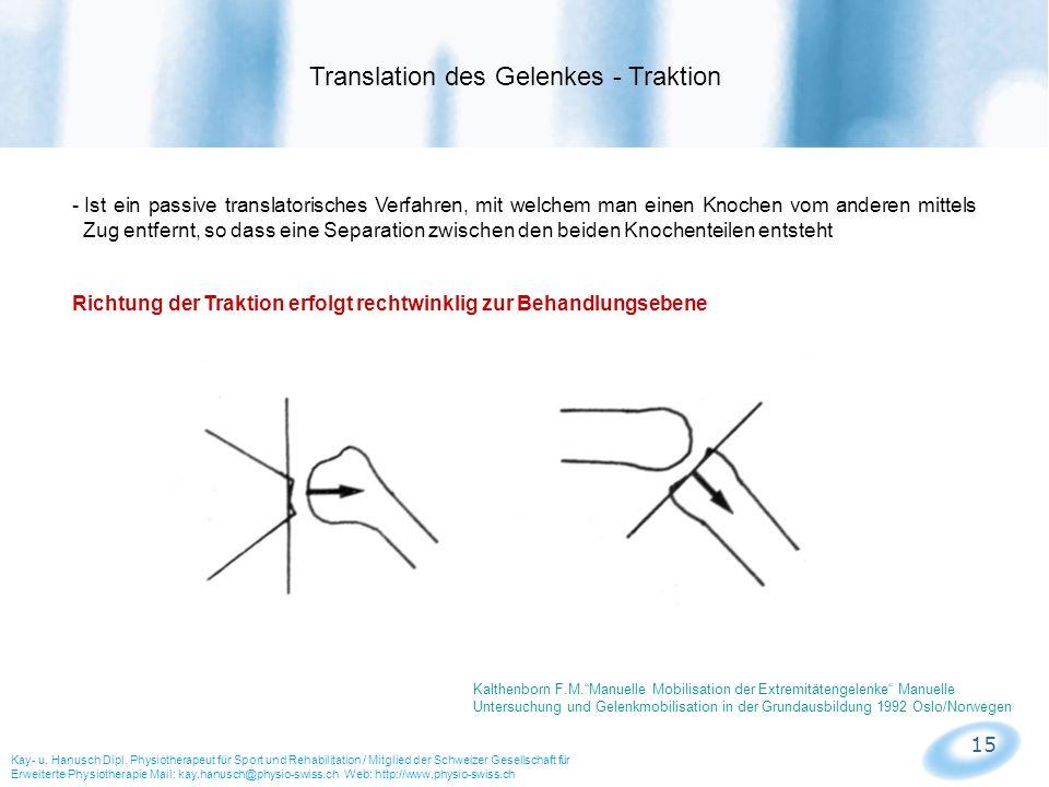 15 - Ist ein passive translatorisches Verfahren, mit welchem man einen Knochen vom anderen mittels Zug entfernt, so dass eine Separation zwischen den
