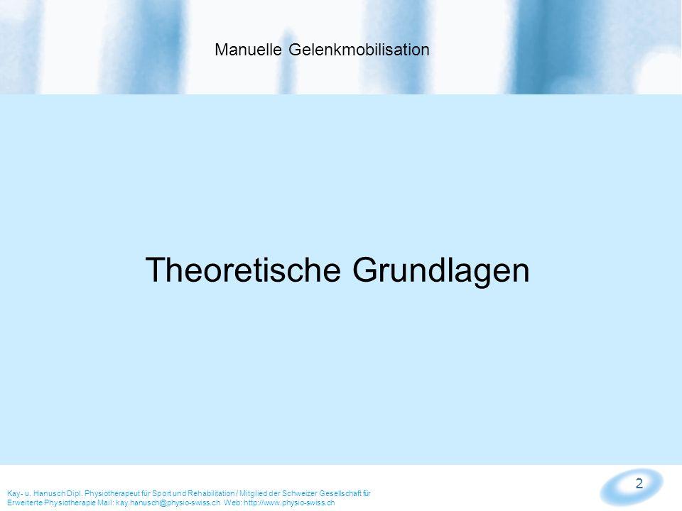 3 Manuelle Mobilisation ist ein Teil der Orthopädischen Manuellen Therapie, welche sich mit den Dysfunktionen (Störungen des Muskelskelettsystems) und eine eigene Fachrichtung innerhalb der Physiotherapie ist.