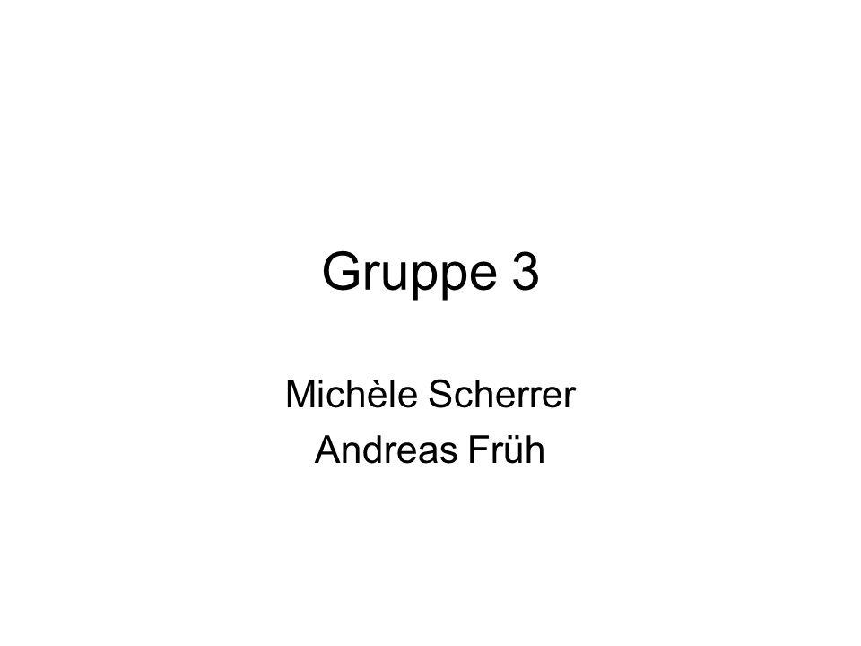 Gruppe 3 Michèle Scherrer Andreas Früh