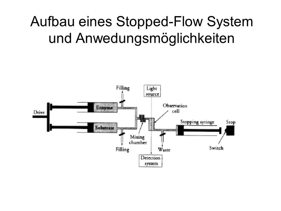 Der Konzentrationsverlauf der Burst Kinetik anhand des Ersatzmechanismus Ersatzmechanismus: