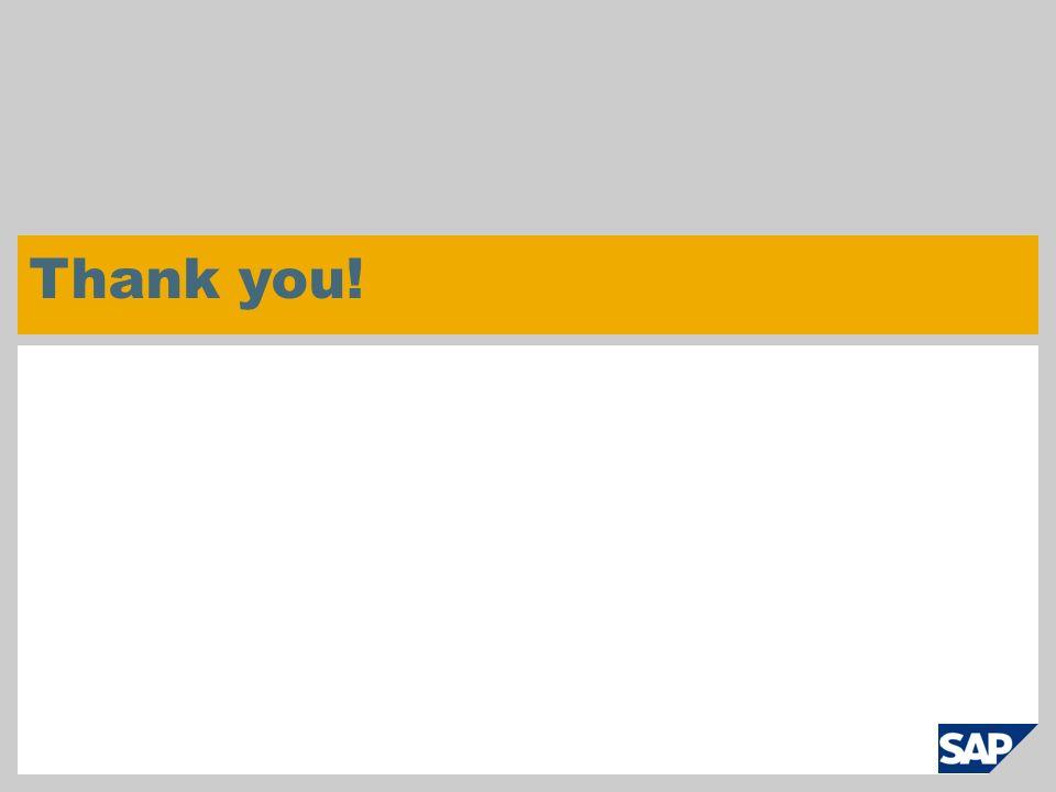 © SAP 2007 / Page 29 Thank you!