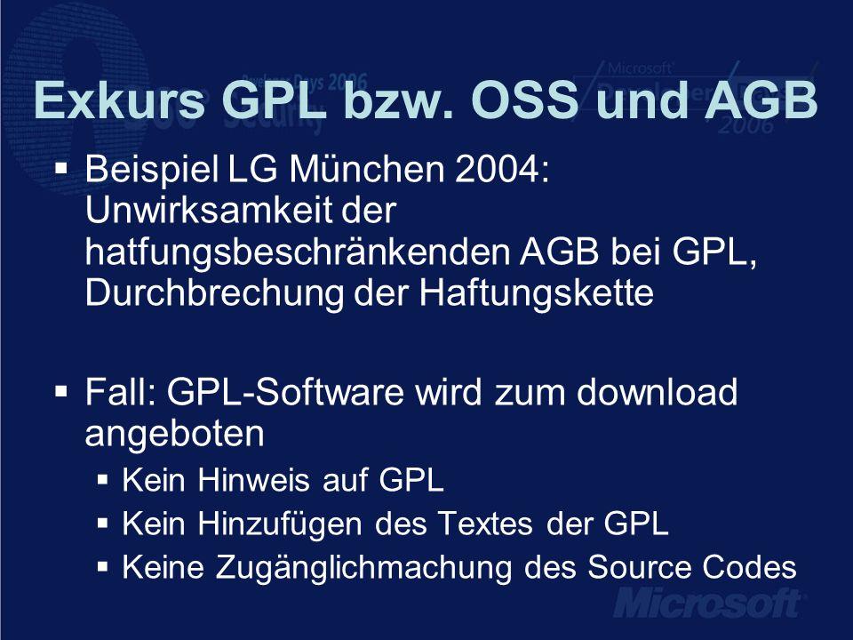 Exkurs GPL bzw.