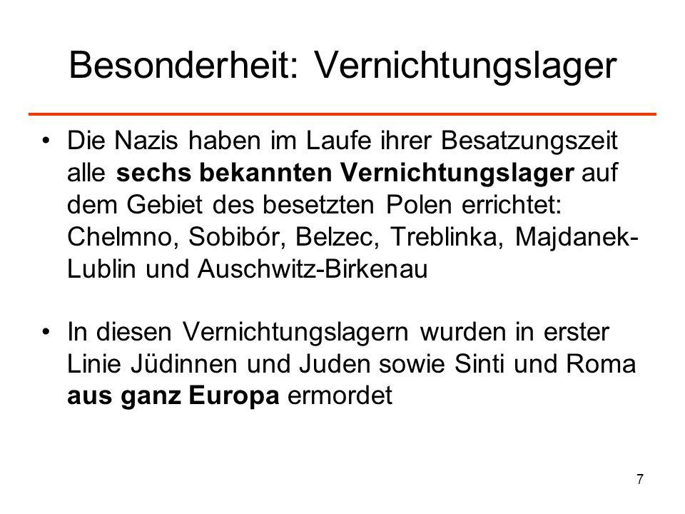 8 Jüdische Bevölkerung I: Zahlen Größter Anteil jüdischer Bevölkerung in Europa: Gesamtzahl betrug einen Tag vor dem deutschen Überfall ca.