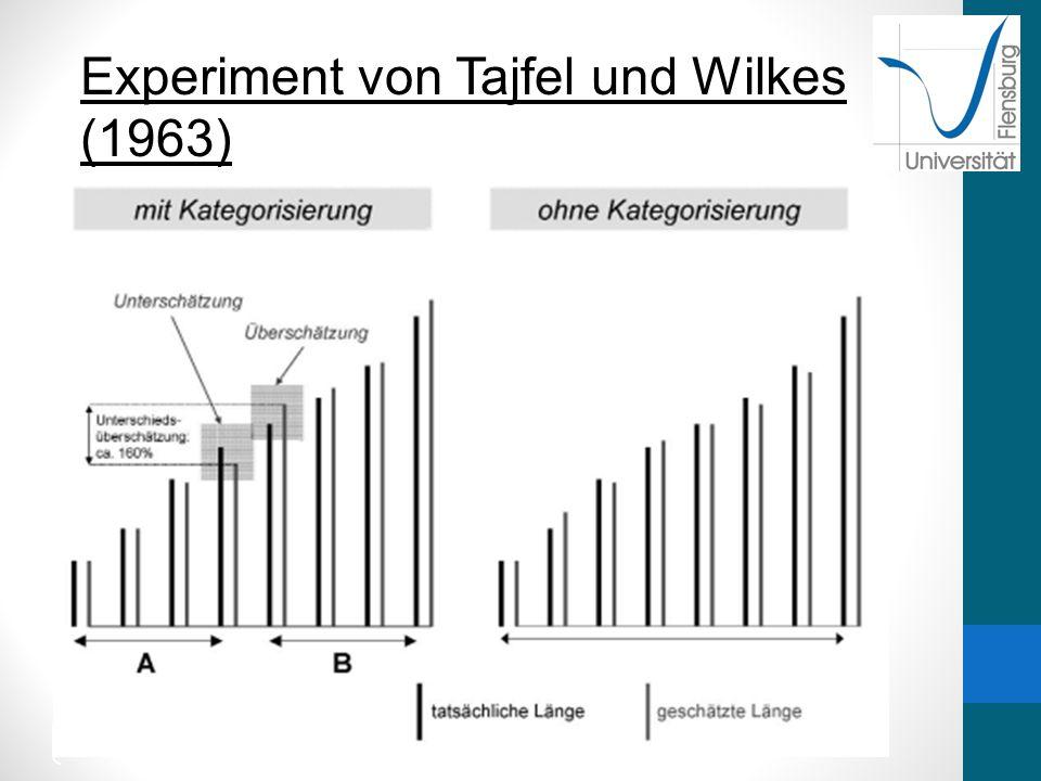 14 21.12. 20 12 Experiment von Tajfel und Wilkes (1963)