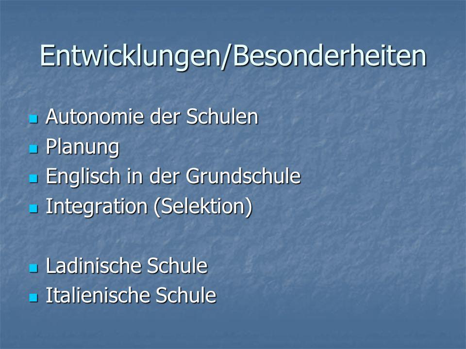 Entwicklungen/Besonderheiten Planung Planung Englisch in der Grundschule Englisch in der Grundschule Integration (Selektion) Integration (Selektion) L