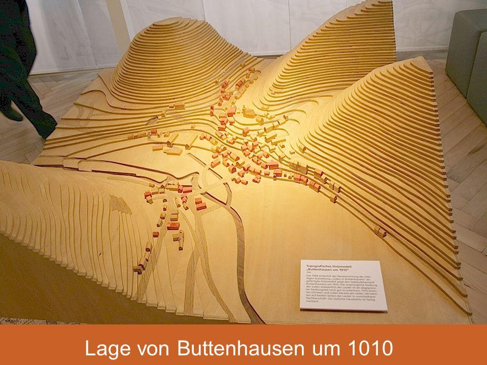 Lage von Buttenhausen um 1910 Lage von Buttenhausen um 1010