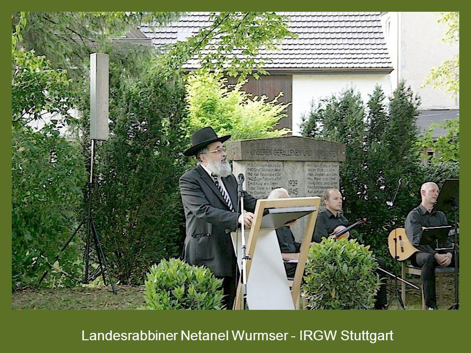 Landesrabbiner Netanel Wurmser - IRGW Stuttgart
