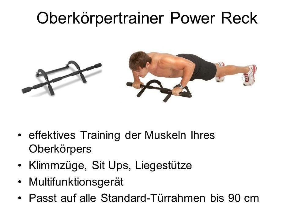 Oberkörpertrainer Power Reck effektives Training der Muskeln Ihres Oberkörpers Klimmzüge, Sit Ups, Liegestütze Multifunktionsgerät Passt auf alle Standard-Türrahmen bis 90 cm