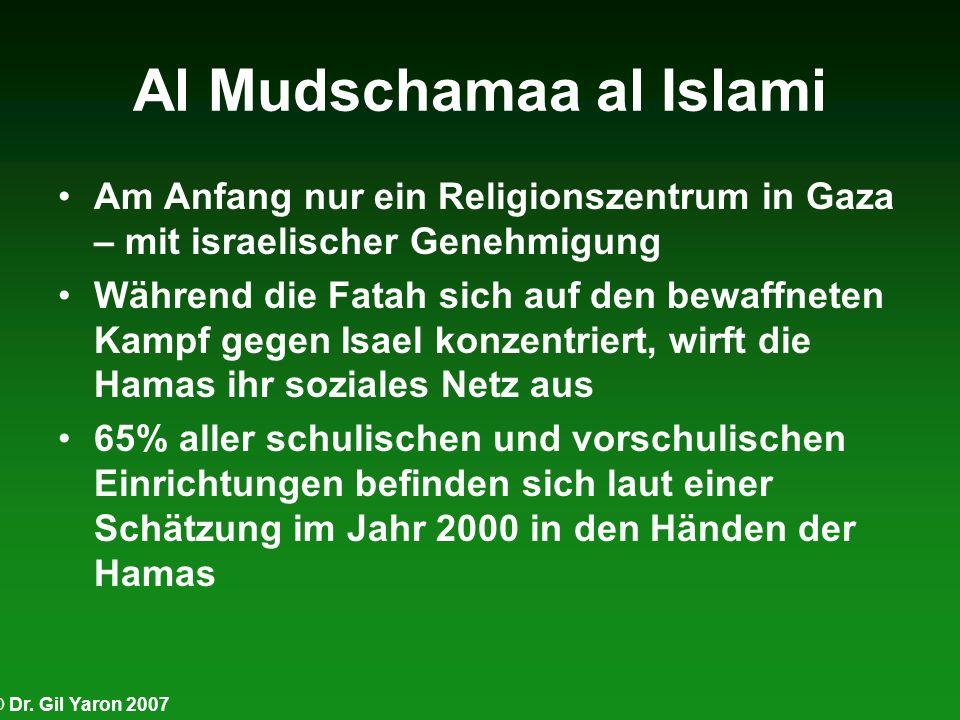 © Dr. Gil Yaron 2007 Al Mudschamaa al Islami Am Anfang nur ein Religionszentrum in Gaza – mit israelischer Genehmigung Während die Fatah sich auf den