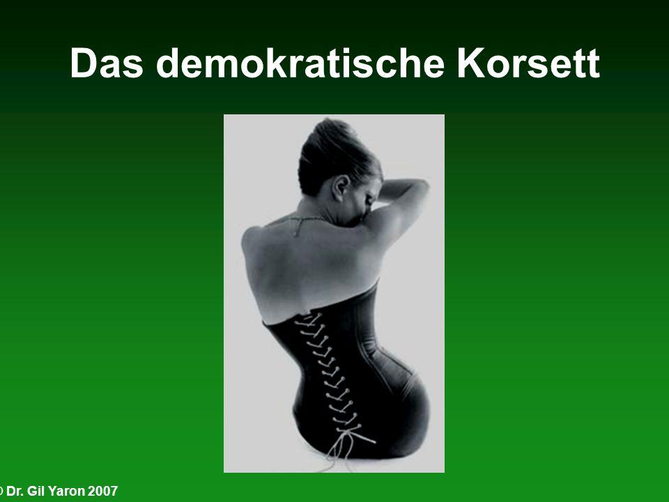 © Dr. Gil Yaron 2007 Das demokratische Korsett