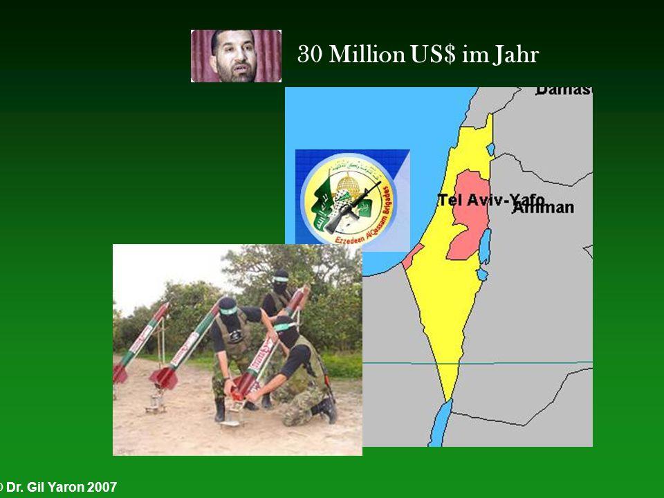 © Dr. Gil Yaron 2007 30 Million US$ im Jahr