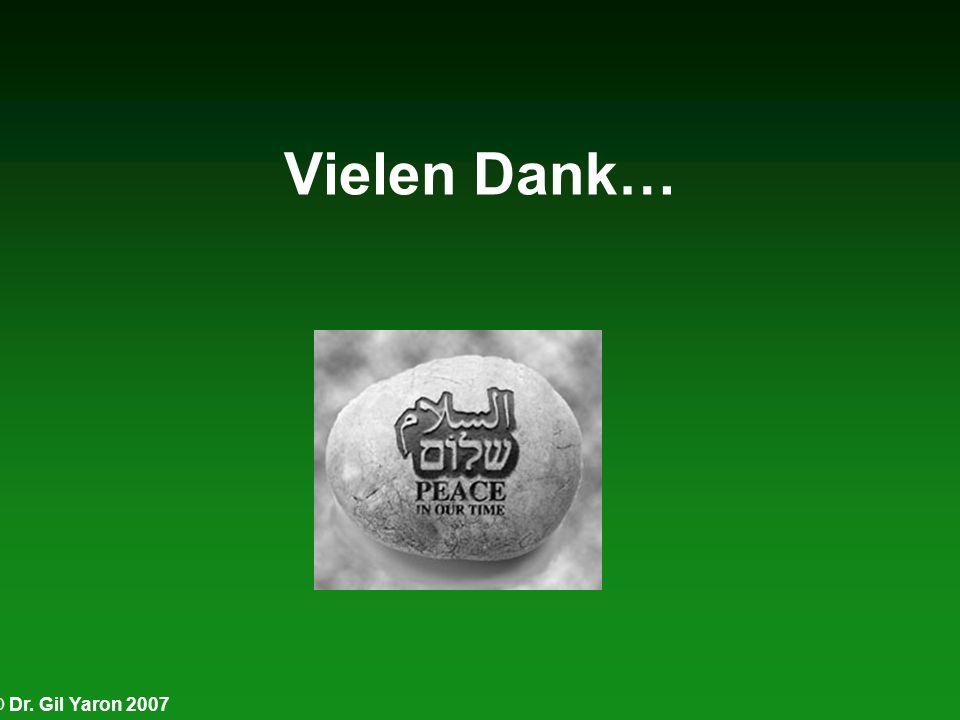 © Dr. Gil Yaron 2007 Vielen Dank…