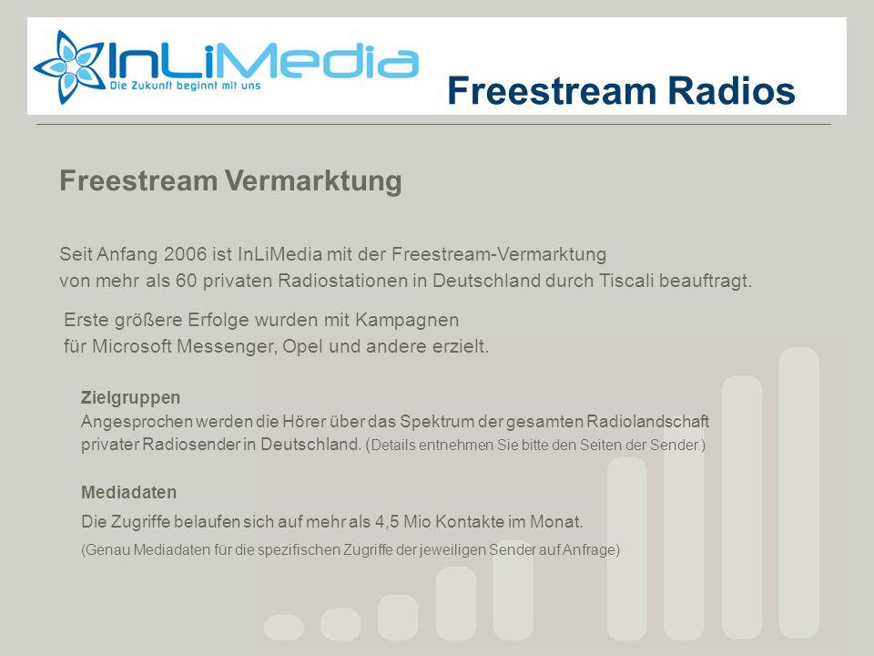 Zielgruppen Angesprochen werden die Hörer über das Spektrum der gesamten Radiolandschaft privater Radiosender in Deutschland. ( Details entnehmen Sie