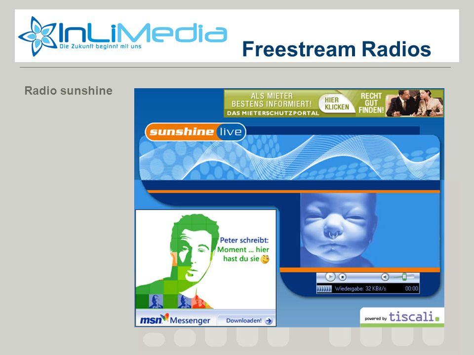 Screenshot 1 Freestream Radios Radio sunshine