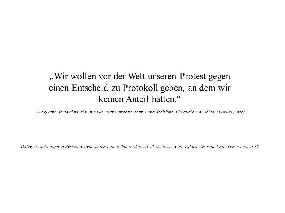 Wir wollen vor der Welt unseren Protest gegen einen Entscheid zu Protokoll geben, an dem wir keinen Anteil hatten. [Vogliamo denunciare al mondo la no