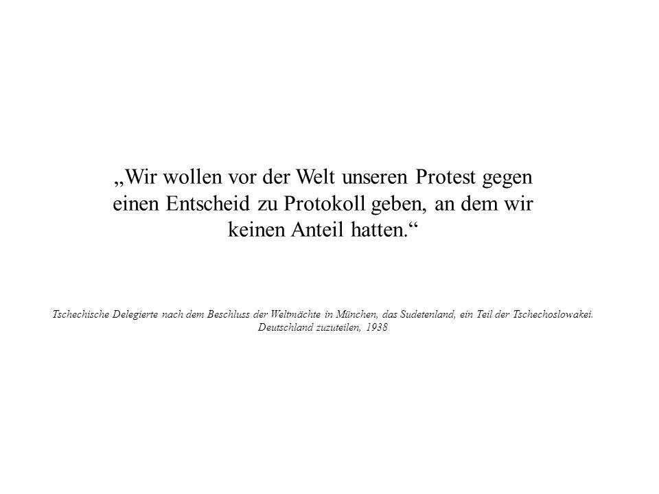 Wir wollen vor der Welt unseren Protest gegen einen Entscheid zu Protokoll geben, an dem wir keinen Anteil hatten. Tschechische Delegierte nach dem Be