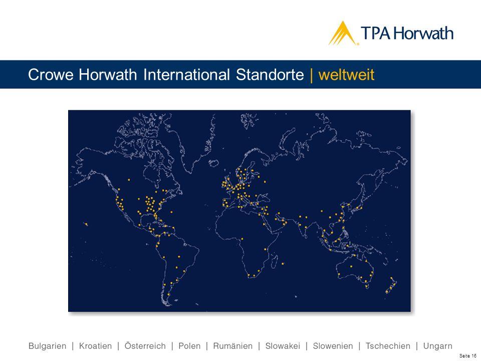 Seite 16 Crowe Horwath International Standorte | weltweit