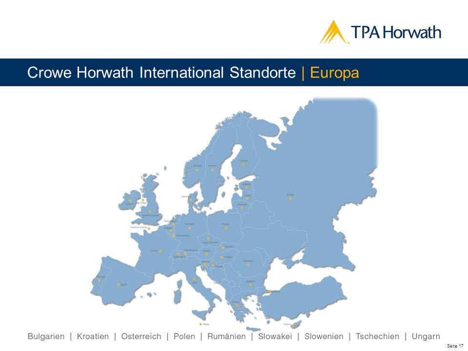 Seite 17 Crowe Horwath International Standorte | Europa