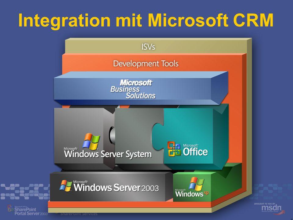 Integration mit Microsoft CRM
