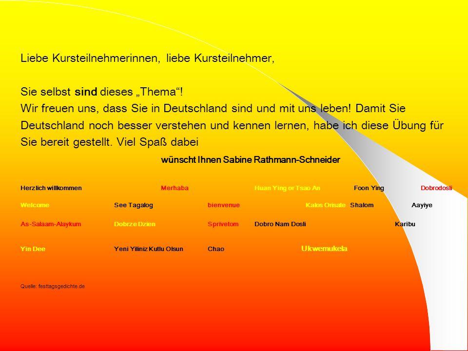 MMF 2 – Goethe-Institut – Webquest Sabine Rathmann-Schneider Integration in Deutschland Integration ist ein vielschichtiger Prozess. Damit er gelingt,