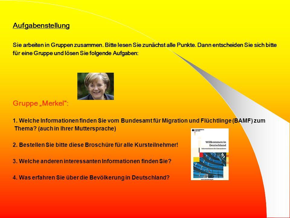 Liebe Kursteilnehmerinnen, liebe Kursteilnehmer, Sie selbst sind dieses Thema! Wir freuen uns, dass Sie in Deutschland sind und mit uns leben! Damit S