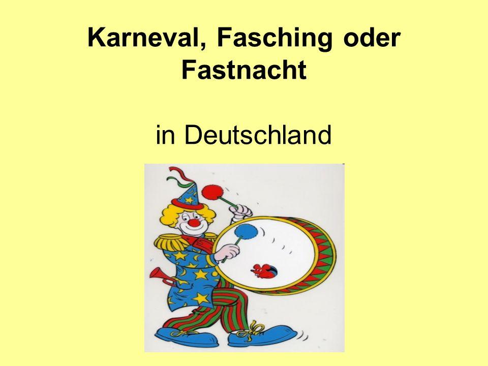 Wo feiert man Fasching in Deutschland?