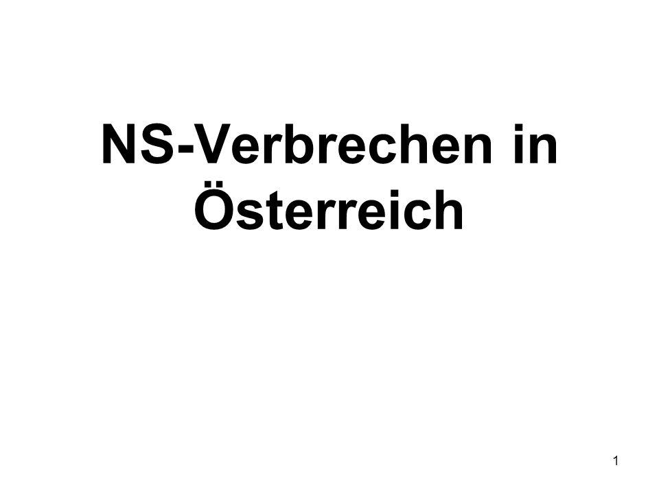1 NS-Verbrechen in Österreich