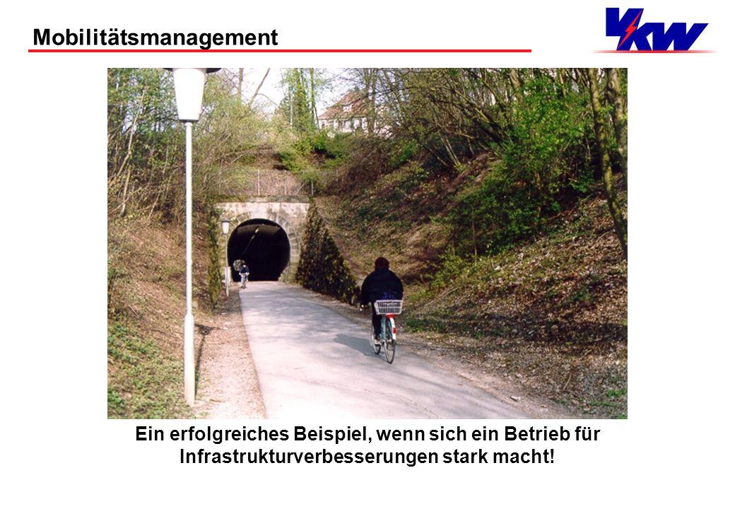 Mobilitätsmanagement Infrastrukturen der sanften Mobilität Wie ist unser Betrieb erschlossen für: Fußgänger Ein Blick zu den öffentlichen Mobilitätsst
