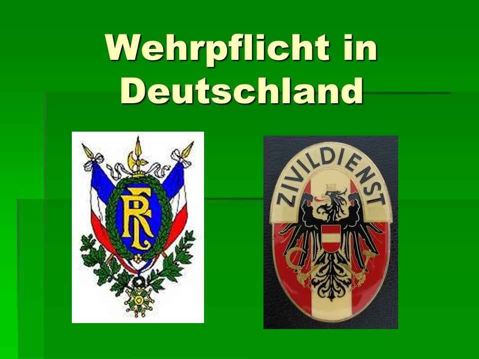 Wehrpflicht in Deutschland