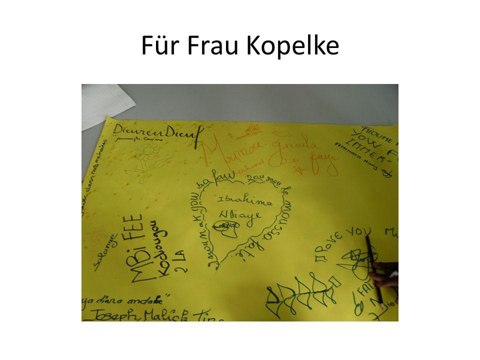 Für Frau Kopelke