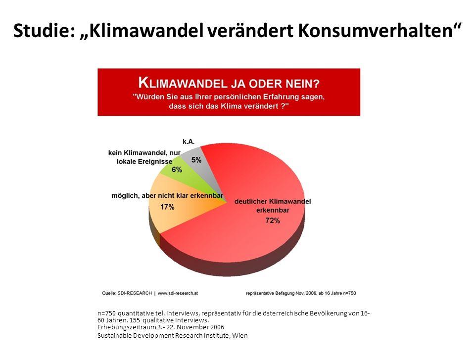 n=750 quantitative tel. Interviews, repräsentativ für die österreichische Bevölkerung von 16- 60 Jahren. 155 qualitative Interviews. Erhebungszeitraum