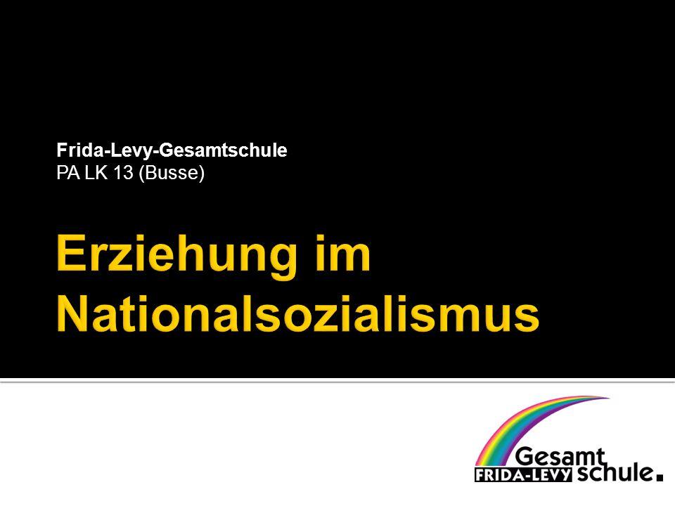 Im Sinne der Förderung der neuen Elite wurden besondere NS-Ausleseschulen, die von unterschiedlichen Flügeln des Nationalsozialismus getragen wurden, gegründet: vor allem die Nationalpolitischen Erziehungsanstalten (NPEA, volkstümlich Napola), die Adolf-Hitler-Schulen, die Reichsschule der NSDAP, die SS-Junkerschulen und die weiterführenden Ordensburgen.
