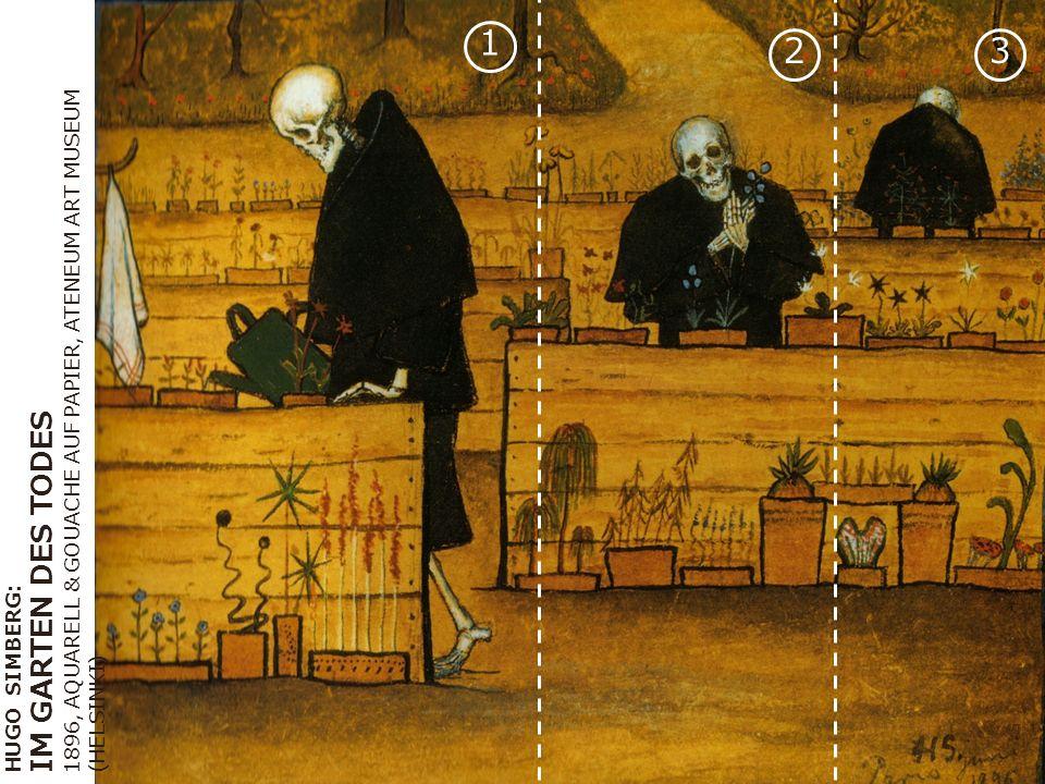 HUGO SIMBERG: IM GARTEN DES TODES 1896, AQUARELL & GOUACHE AUF PAPIER, ATENEUM ART MUSEUM (HELSINKI) 1 23
