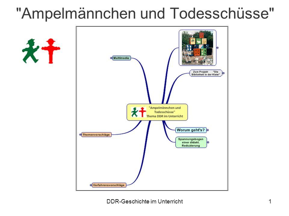 DDR-Geschichte im Unterricht2 Zum Projekt Die Bibliothek in der Kiste 27 Themen als Bestandsempfehlung für Schulbibliotheken Als ausleihbare Bücher- und Medienkisten