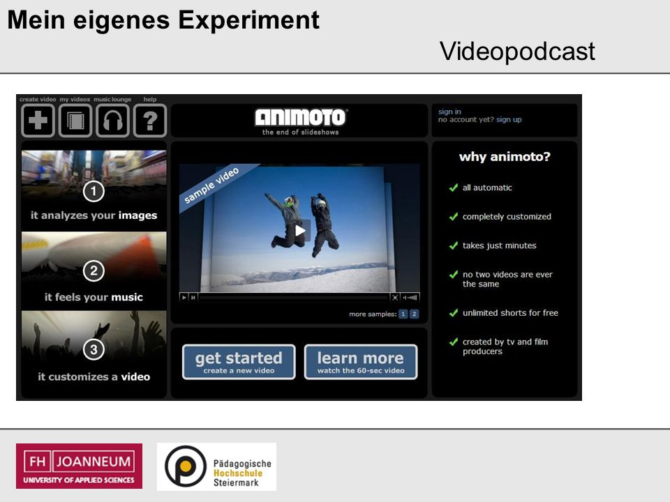 Mein eigenes Experiment Videopodcast