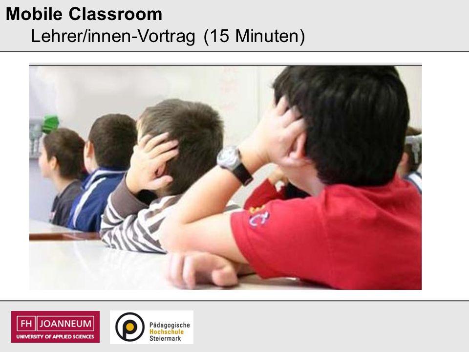 Mobile Classroom Mein eigener Versuch (15 Minuten) Was hast du entdeckt?