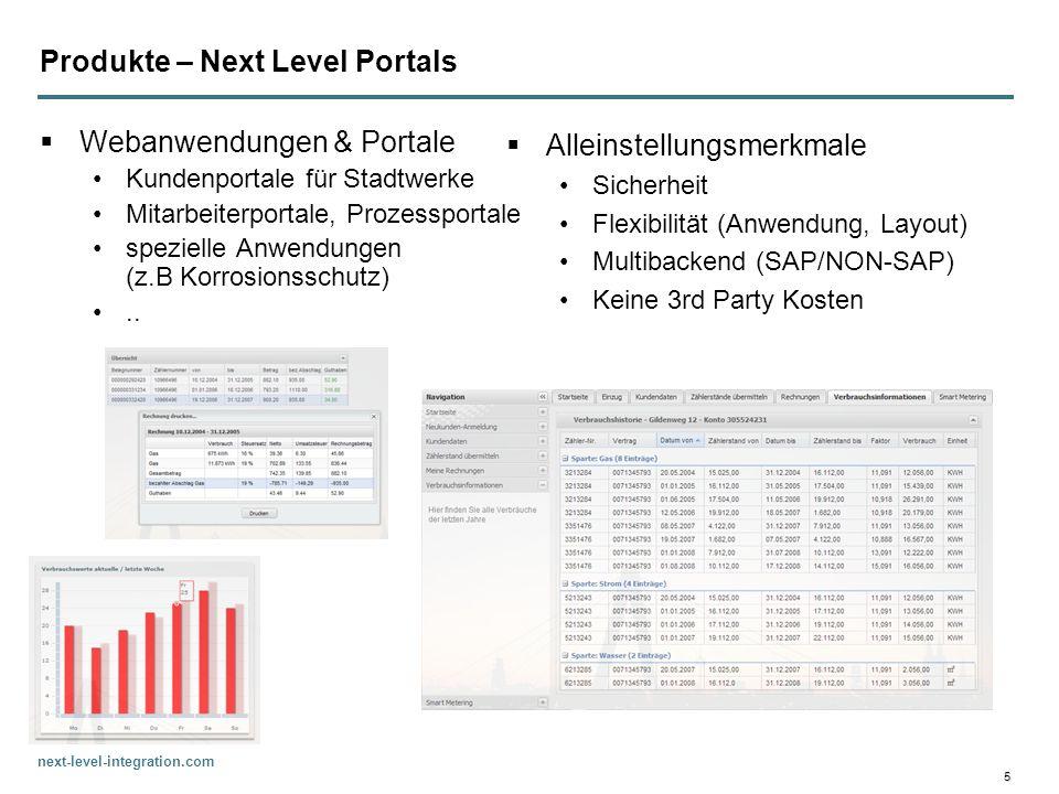 next-level-integration.com 5 Produkte – Next Level Portals Webanwendungen & Portale Kundenportale für Stadtwerke Mitarbeiterportale, Prozessportale sp