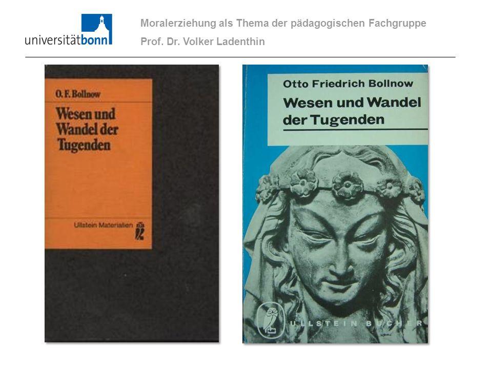 Moralerziehung als Thema der pädagogischen Fachgruppe Prof. Dr. Volker Ladenthin
