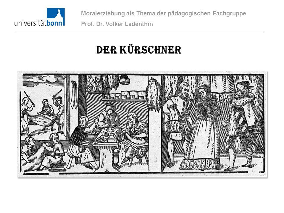 Der Kürschner Moralerziehung als Thema der pädagogischen Fachgruppe Prof. Dr. Volker Ladenthin