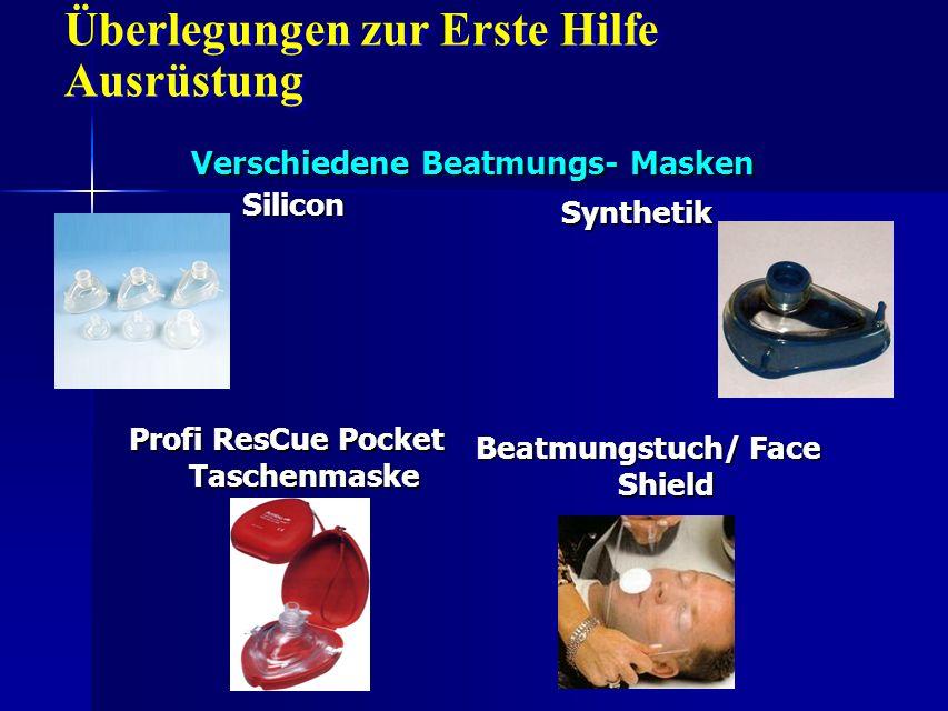 Verschiedene Beatmungs- Masken Silicon Synthetik Profi ResCue Pocket Taschenmaske Beatmungstuch/ Face Shield Überlegungen zur Erste Hilfe Ausrüstung